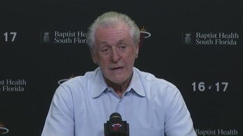 Pat Riley press conference (Part 2 of 4): On Bosh, Spoelstra, resting players