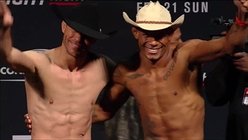 Cowboys Cerrone and Oliveira have friendly staredown - Full UFC Weigh-In