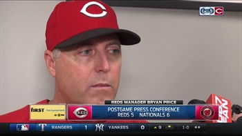 Reds skipper Bryan Price on bullpen's struggles, Castillo's debut