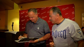 Andy Green, Don Orsillo and Ryan Buchter meet fans at Sycuan Casino