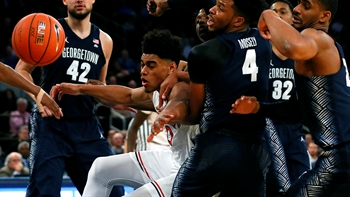 St. John's Red Storm defeat Georgetown Hoyas with block in final seconds