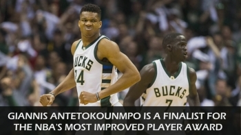 Giannis a finalist for Most Improved Player award