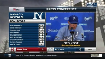 Yost on Salvy's slam: 'He got ahold of it'