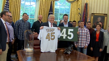 Chicago Cubs visit President Trump