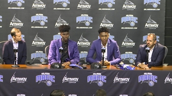 Jonathan Isaac and Wesley Iwundu - Orlando Magic press conference (Part 2)