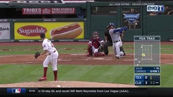 WATCH: Robinson Chirinos hits home run in 5th vs. Indians