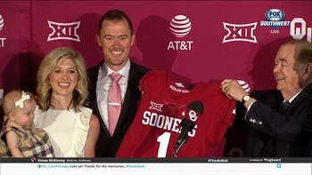 Oklahoma introduces Lincoln Riley as new Head Coach