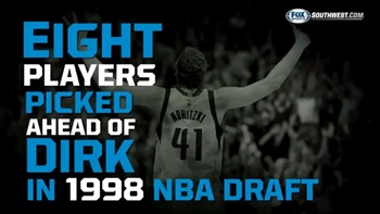 Who was picked ahead of Dirk in the 1998 draft?