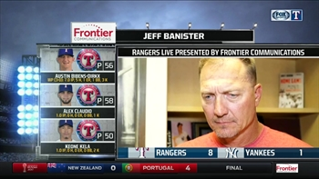 Jeff Banister talks Austin Bibens-Dirkx start in New York