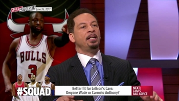 Better fit for LeBron's Cavs: Dwyane Wade or Carmelo Anthony? | SPEAK FOR YOURSELF