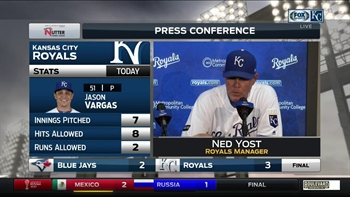 Ned Yost on Jason Vargas: 'He had everything working'