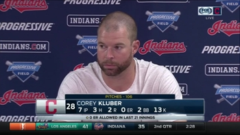 The strikeouts aren't important for Kluber, he just cares about the result