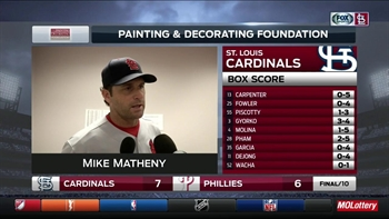 Matheny impressed with Lyons' long relief outing against Phillies