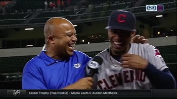 Francisco Lindor ends postgame interview with a cliffhanger and a hug