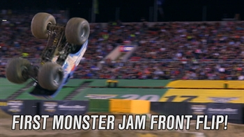 The First Monster Jam Front Flip