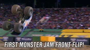 The First Monster Jam Front Flip