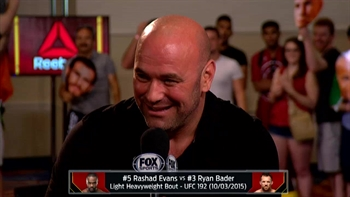 Dana White announces Rashad Evans-Ryan Bader fight in October