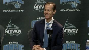 Jeff Weltman press conference (Part 2 of 4): On new Magic GM Hammond, coach Vogel
