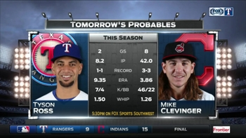 Tyson Ross takes mound in Cleveland | Rangers Live