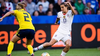 Eugenie Le Sommer scores the first goal of the 2019 FIFA Women's