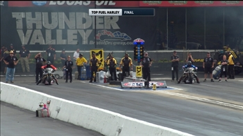 Tii Tharpe Wins Top Fuel Harley Final at Bristol | 2017 NHRA DRAG RACING