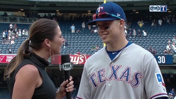 Robinson gets first MLB hit and homer in Rangers' win