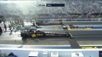 Clay Millican Wins Top Fuel Final at Bristol | 2017 NHRA DRAG RACING
