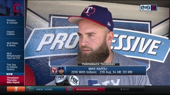 Mike Napoli on return to Cleveland as visitor: 'It's fun, but it's also weird'